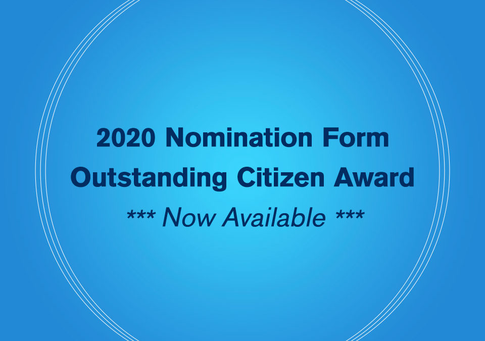 The 2020 Nomination Form For Outstanding Citizen Award