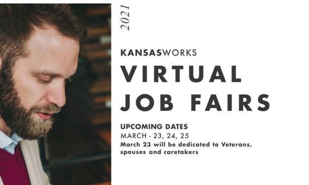 KansasWorks Hosting Set of Virtual Job Fairs March 23, 24 & 25